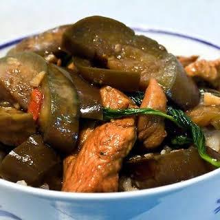 Thai Basil Chicken & Eggplant.