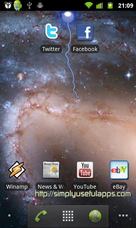 Tesla Sparks Free LWP- screenshot