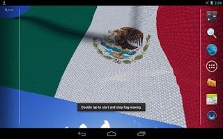 Screenshot of 3D Mexico Flag Live Wallpaper