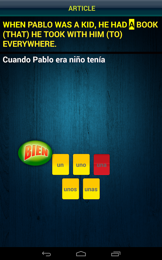 Spanish Touch Trainer- screenshot