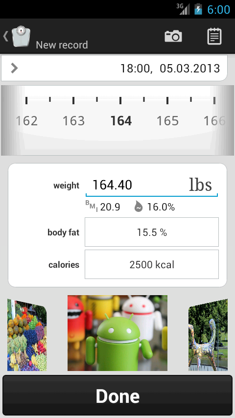 Weight Meter ideal weight, BMI- screenshot
