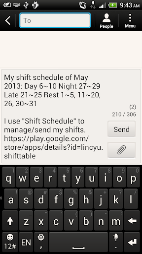 Shift Calendar (since 2013) for PC