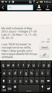 Shift Calendar (since 2013) - náhled