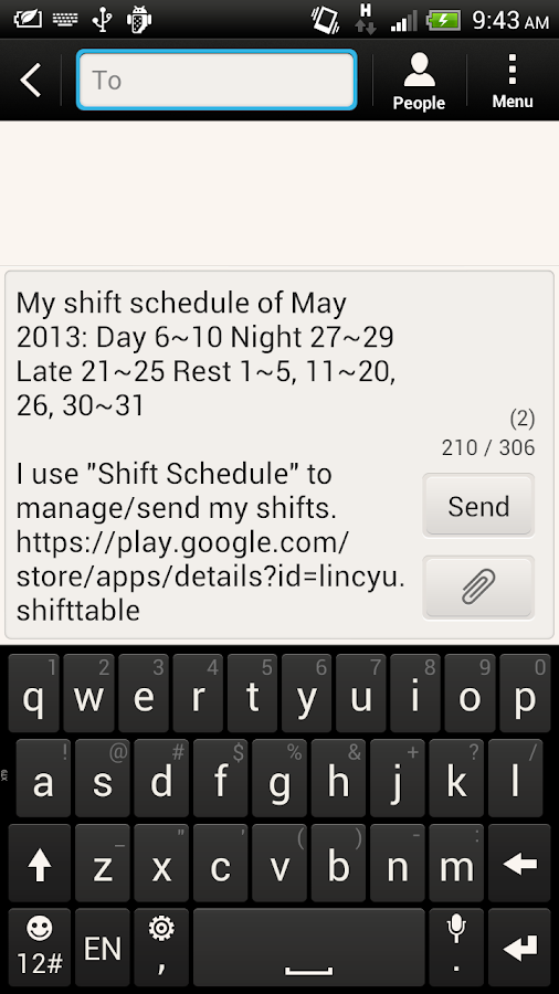Shift Calendar / Schedule - screenshot