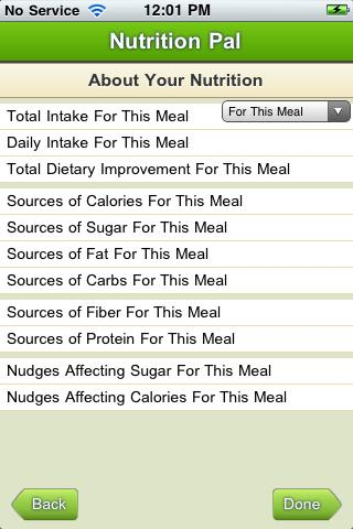 Nutrition Pal - screenshot