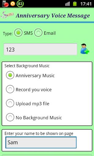 Anniversary Voice Message