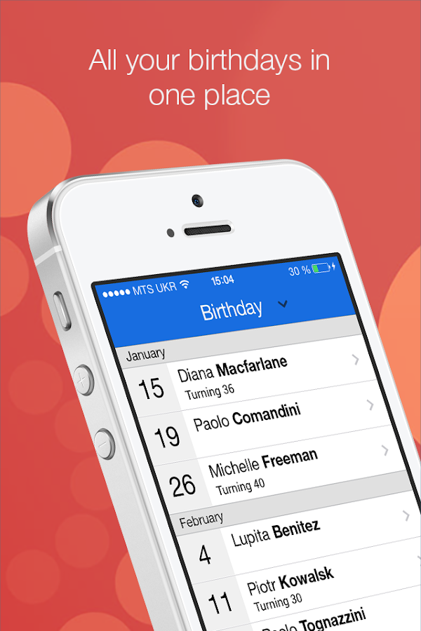 BirthdayAlarm - Official App- screenshot