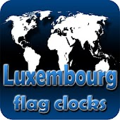 Luxembourg flag clocks