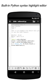 QPython - Python for Android- screenshot thumbnail