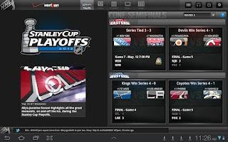 Screenshot of Verizon NHL GameCenter Premium