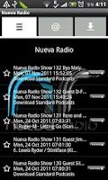 Screenshot of Nueva Radio