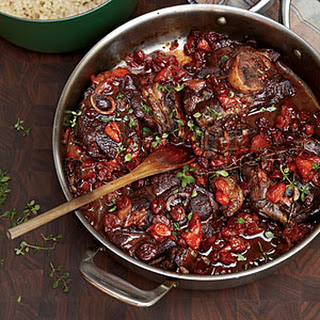 Zinfandel-Braised Lamb Chops with Dried Fruit.
