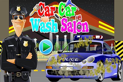 Police Car Wash Salon Game