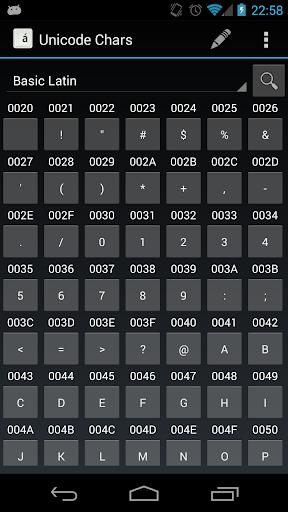 Unicode Chars Pro
