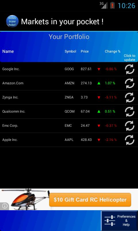 Markets in your Pocket - screenshot