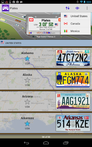 android Plates Family Travel Game Screenshot 1