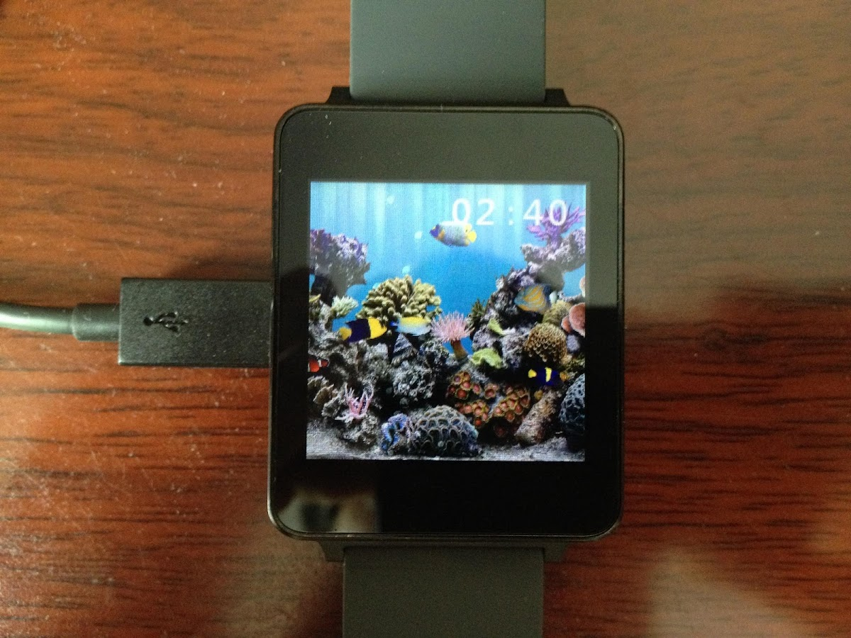 Aquarium Watchface - screenshot