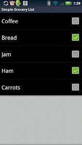 Simple Grocery List screenshot 0