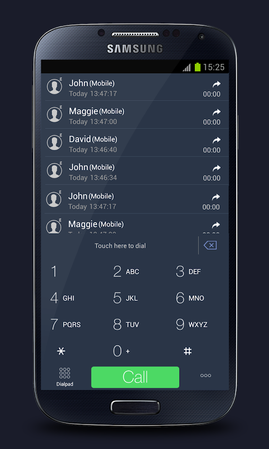 GOContacts Theme 7 Dark - screenshot