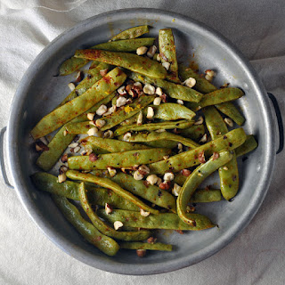 Roasted Romano Beans with Hazelnuts and Smoked Paprika