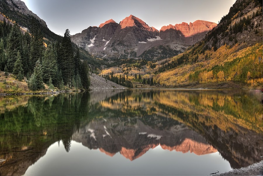 Fall n Reflecions by Ryan Smith - Landscapes Mountains & Hills