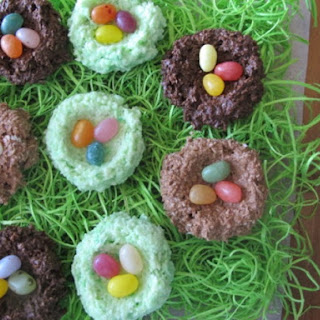 Chocolate Coconut Nests with Jelly Bean Eggs
