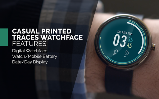 Casual Printed Watch Face Free