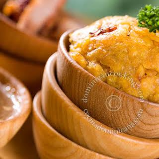 Mofongo Recipe (Garlic and pork mashed plantains).