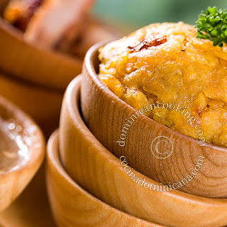 Mofongo Recipe (Garlic and pork mashed plantains).