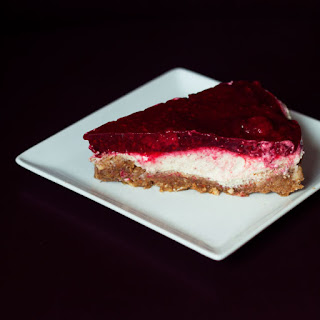 Vegan Raspberry 'Cheese' Cake { Gluten & Sugar Free }