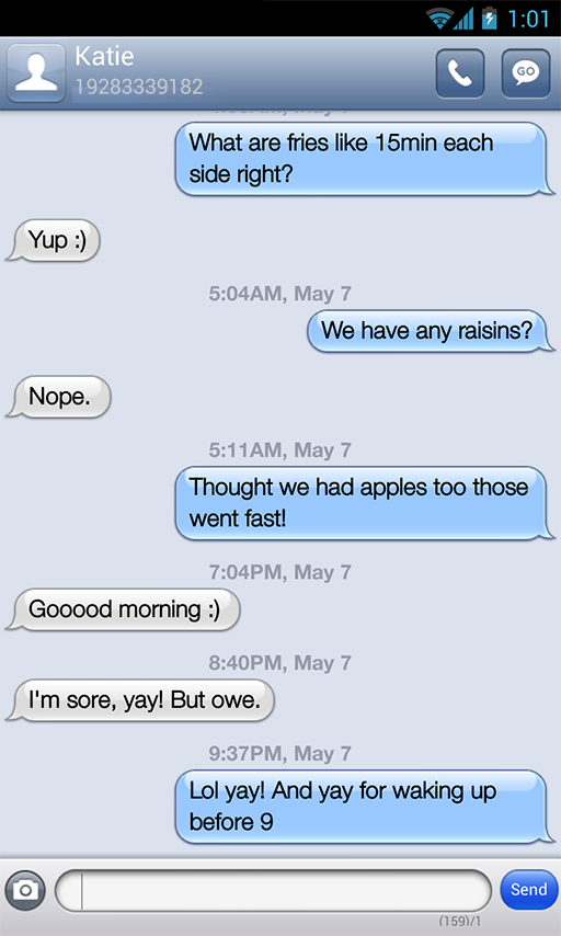 iPhone Blue Messages GO SMS - screenshot