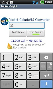 Pocket Cal/kJ- screenshot thumbnail