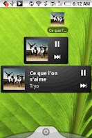 Screenshot of Pure music widget