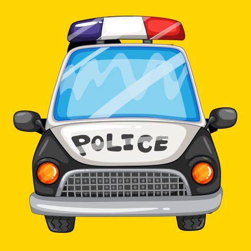 警車警笛和燈光 LOGO-APP點子