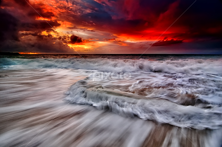 sunset streamback by Raung Binaia - Landscapes Waterscapes ( unset, sea, beach )