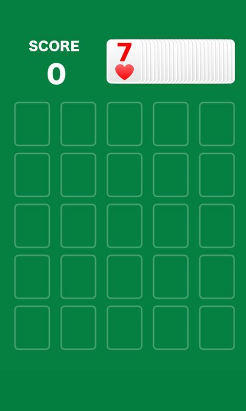 One poker = pokers olitaire- screenshot