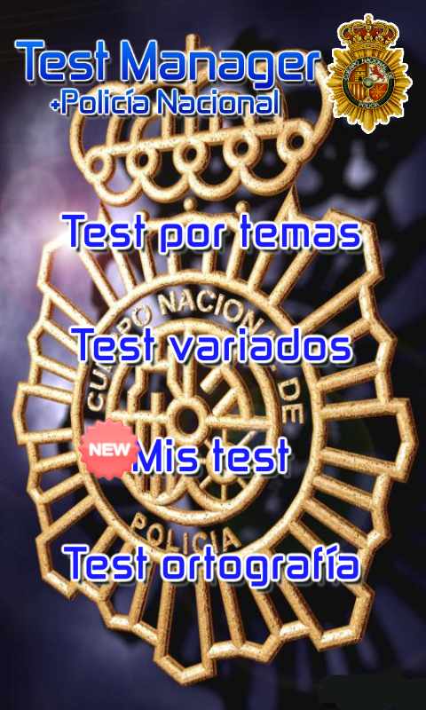 TestManager +Policia Nacional - screenshot