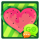 GO SMS Watermelon Heart Theme