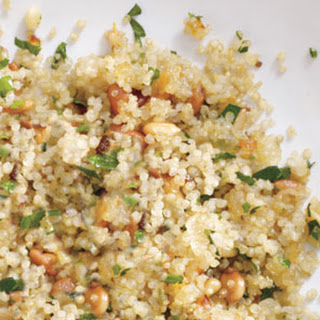 Quinoa Pilaf With Pine Nuts.