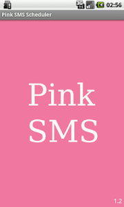 Pink SMS Scheduler screenshot 0