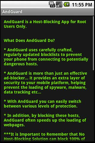 AndGuard Pro (w/ Iptables)- screenshot