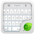 GO Keyboard Flat White Theme icon