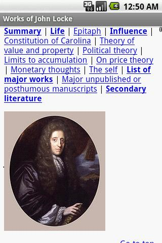 Works of John Locke - screenshot