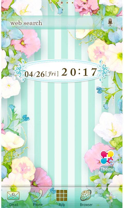 pastel flower wallpaper theme screenshot - Flower Wallpaper For Home