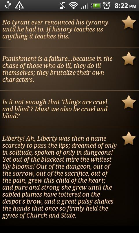 Voltairine Quotes- screenshot