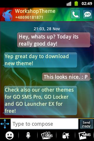 GO SMS Pro Theme Smoke Fire - screenshot