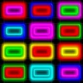 Neon Puzzle Down