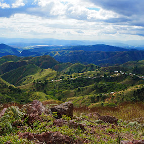 la cucarita by Charles Saunders - Novices Only Landscapes ( mountians, community, valley, dominican republic, sun )