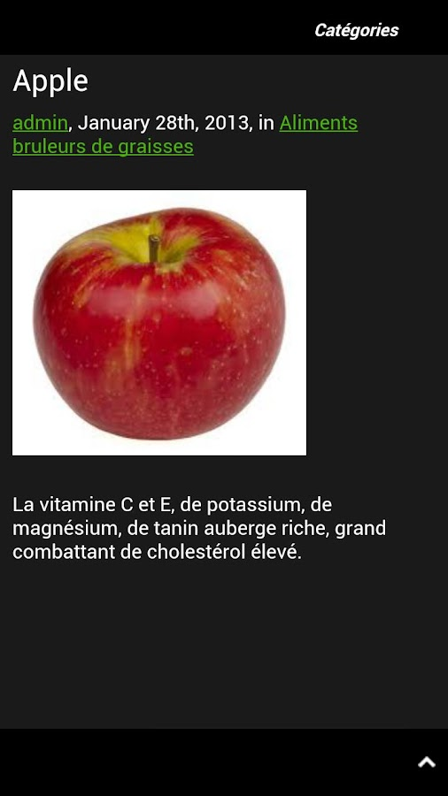 Aliments Brûle Graisse - screenshot