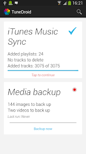 TuneDroid Backup & iTunes Sync - screenshot thumbnail